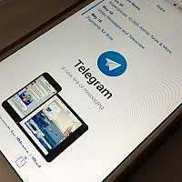 Illustrative: The messaging app Telegram is displayed on a smartphone (AP Photo)