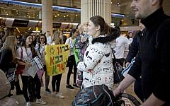 Illustrative: Jewish immigrants from Russia and Ukraine arrive at Ben Gurion International Airport near Tel Aviv, January 30, 2018. (Photo: AP/Ariel Schalit)