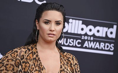 Demi Lovato arrives at the Billboard Music Awards at the MGM Grand Garden Arena on  May 20, 2018, in Las Vegas. (Jordan Strauss/Invision/AP)