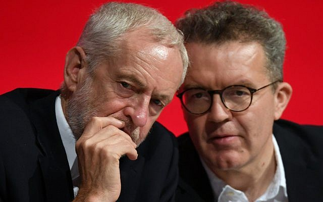 Labour party leader Jeremy Corbyn, (left), and deputy party leader Tom Watson (AP Photo/Alastair Grant)