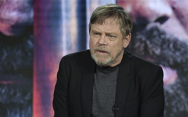 "Mark Hamill participates in the ""Knightfall"" panel during the History portion of the TCA Winter Press Tour on Sunday, Feb. 10, 2019, in Pasadena, Calif. (Richard Shotwell/Invision/AP)"