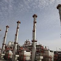 ILLUSTRATIVE -- This March 16, 2019 photo, shows a natural gas refinery at the South Pars gas field on the northern coast of the Persian Gulf, in Asaluyeh, Iran (AP Photo/Vahid Salemi)