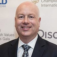 US Middle East Peace Envoy Jason Greenblatt at the Champions of Jewish Values International Awards gala at Carnegie Hall, in New York, on March 28, 2019. (Charles Sykes/Invision/AP)