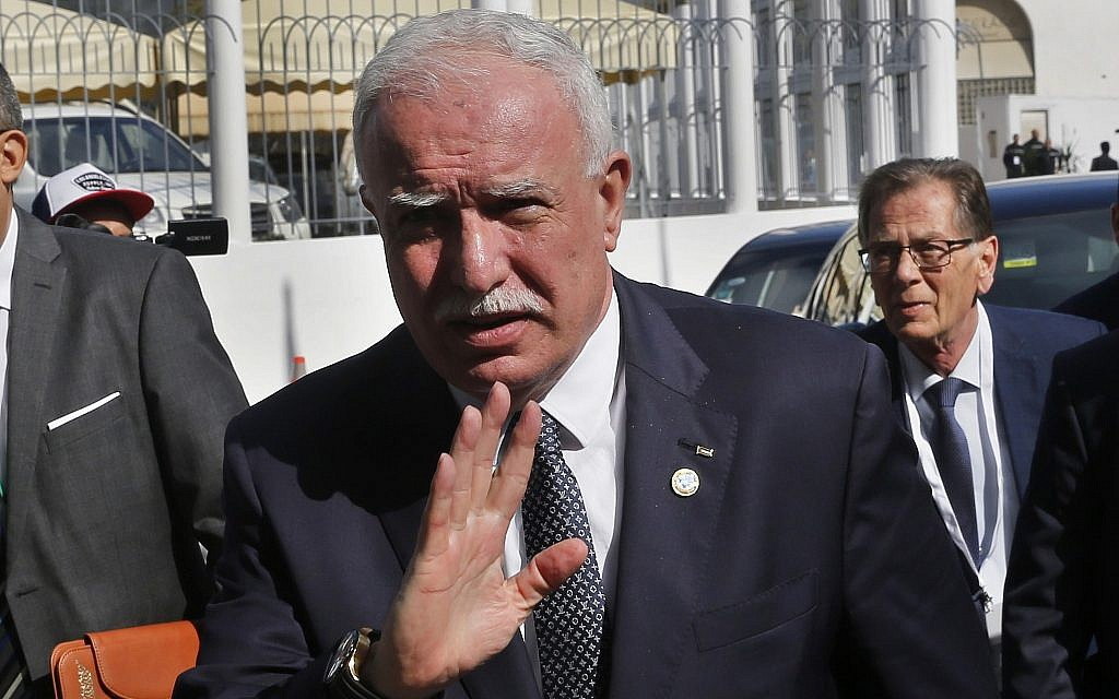 Palestinian Authority FM: We're ready for dialogue with any future Israeli PM