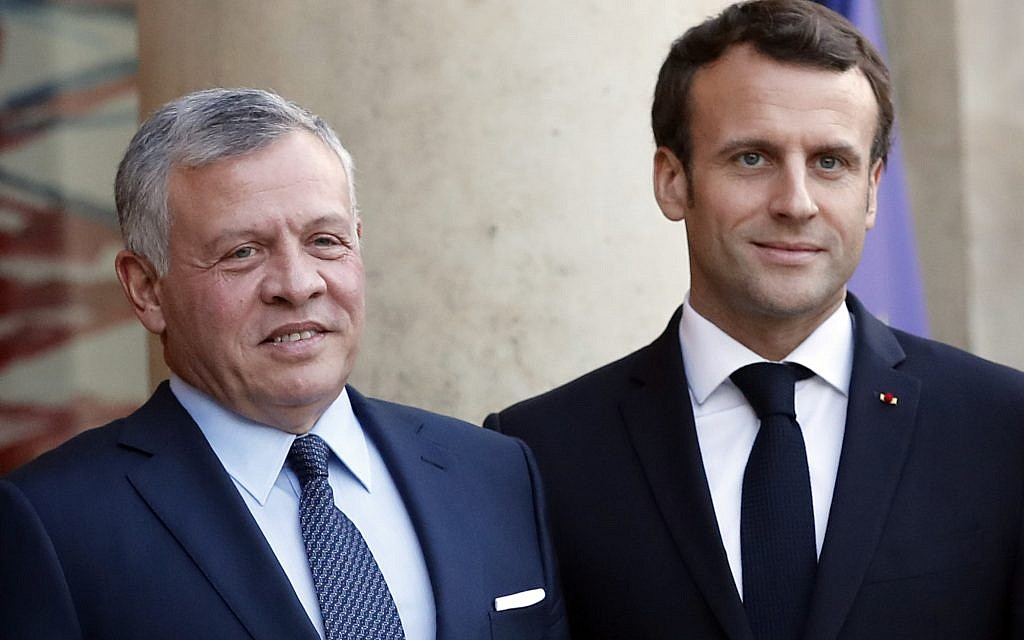 France, Jordan leaders 'share concern' over Netanyahu annexation plan