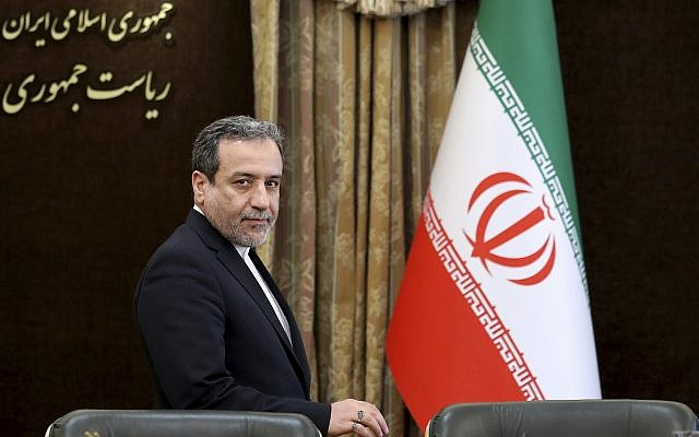 Iranian Deputy Foreign Minister Abbas Araghchi attends a press briefing in Tehran, Iran, July 7, 2019. (Ebrahim Noroozi/AP)