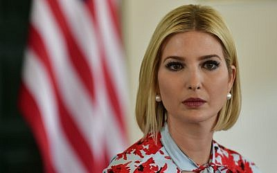 Ivanka Trump, US President Donald Trump's daughter and White House adviser, attends a meeting with Jujuy state Governor Gerardo Morales in Purmamarca, Argentina, September 5, 2019. (AP Photo/Gustavo Garello)