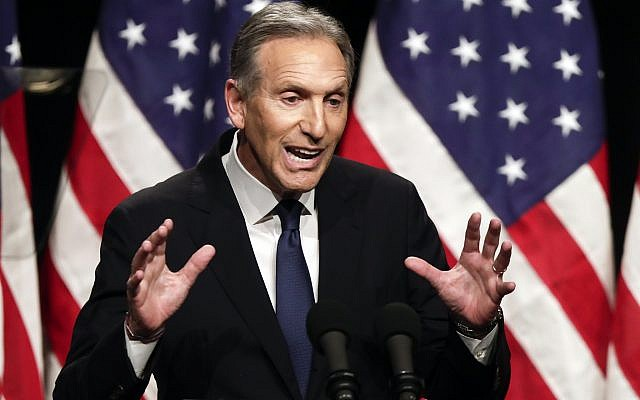 In this Feb. 7, 2019, file photo, former Starbucks CEO Howard Schultz speaks at Purdue University in West Lafayette, Ind. On Friday, Sept. 6, 2019, in a letter, Schultz says he's no longer considering an independent presidential bid. (AP Photo/Michael Conroy, File)