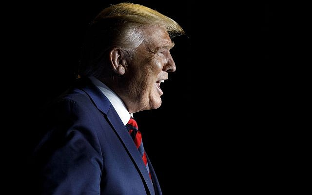 President Donald Trump calls out as he arrives to speak at the 2019 National Historically Black Colleges and Universities Week Conference in Washington, Tuesday, Sept. 10, 2019. (AP Photo/Carolyn Kaster)
