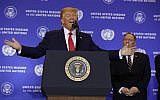 US President Donald Trump speaks during a news conference at the InterContinental Barclay New York hotel during the United Nations General Assembly, Wednesday, Sept. 25, 2019, in New York. Secretary of State Mike Pompeo is right. (AP Photo/Evan Vucci)