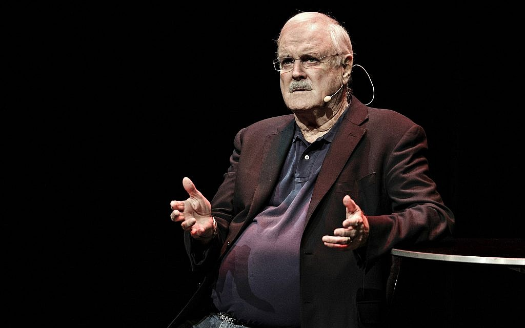 John Cleese performs during his show 'Last Time to See Me Before I Die' (Tobias Nokolai/Polfoto via AP)