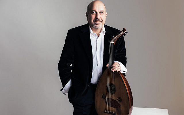 Armenian oud artist Ara Dinkjian, founder of the Night Ark ensemble, who will appear at this year's Oud Festival in Jerusalem, on November 23, 2019 (Courtesy Alena Soboleva)