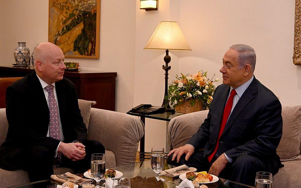Outgoing Trump peace envoy meets Netanyahu but not Gantz amid election deadlock
