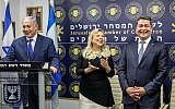 Prime Minister Benjamin Netanyahu speaks at the opening of a Honduran trade office in Jerusalem, on September 1, 2019. (Marc Israel Sellem/Pool/Flash90)