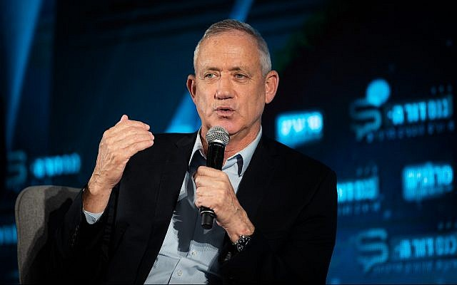 Blue and White party leader Benny Gantz. (Yonatan Sindel/Flash90)