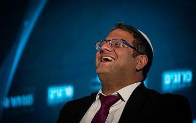 Itamar Ben-Gvir of the Otzma Yehudit party attends a conference in Jerusalem on September 2, 2019. (Yonatan Sindel/Flash90)