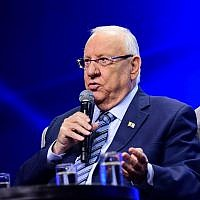 President Reuven Rivlin in Tel Aviv on September 5, 2019. (Flash90)
