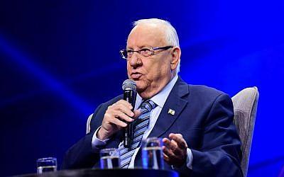 President Reuven Rivlin in Tel Aviv on September 5, 2019. (Flash90)