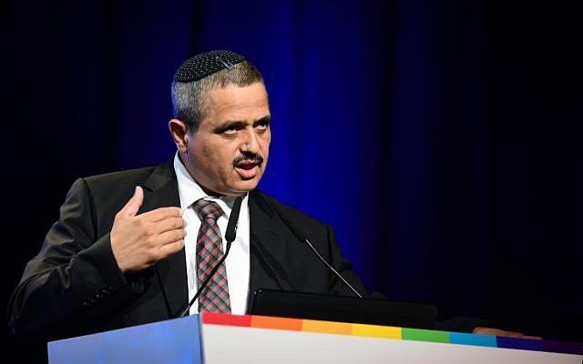 Former Israel Police commissioner Roni Alsheich speaks during a Channel 12 TV conference in Tel Aviv on September 5, 2019. (Flash90)