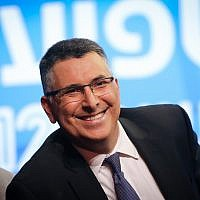 Likud MK Gideon Sa'ar speaks during a conference of the Israeli Television News Company in Tel Aviv on September 5, 2019. (Hadas Parush/Flash90)