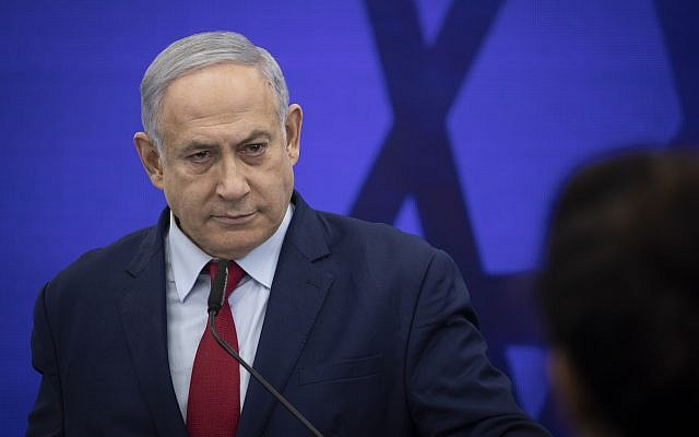 Prime Minister Benjamin Netanyahu gives a speech in Ramat Gan on September 10, 2019. (Hadas Parush/Flash90)