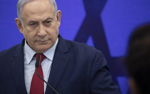 Prime Minister Benjamin Netanyahu gives a speech in Ramat Gan on September 10, 2019. (Hadas Parush/Flash90/File)