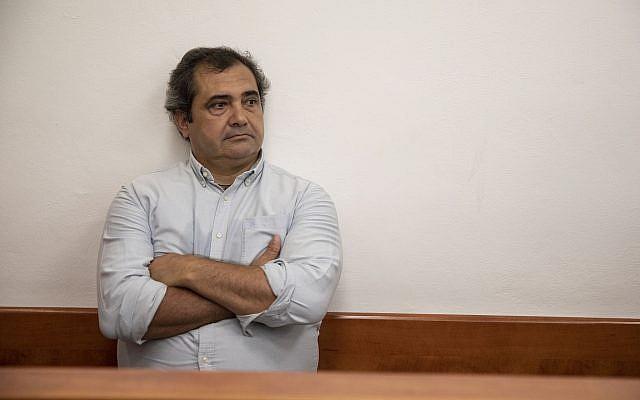 Spanish journalist Julio de la Guardia at the Jerusalem District Court on September 22, 2019. (Hadas Parush/Flash90)