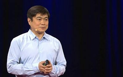 Screen capture from video of Joi Ito, director of the Massachusetts Institute of Technology's Media Lab. (YouTube)