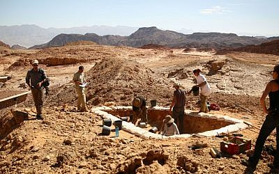 Excavations of ancient copper mines as part of Tel Aviv University's Central Timna Valley Project. (E. Ben-Yosef and the Central Timna Valley Project)