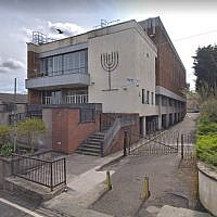 Screen capture of Giffnock & Newlands Synagogue, Scotland. (Google maps)