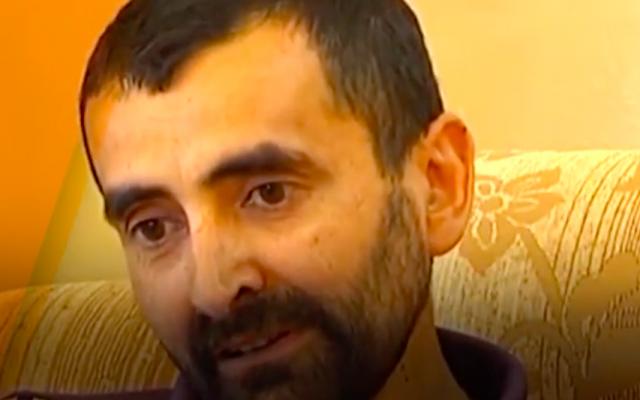 Palestinian security prisoner Bassam al-Sayeh (Screenshot: Youtube)