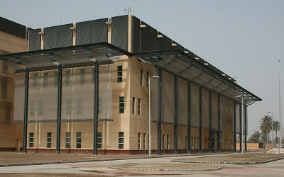 The US embassy in Baghdad, Iraq in 2014 (Public Domain/US State Department)