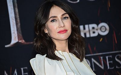 """Actress Carice van Houten attends HBO's """"Game of Thrones"""" final season premiere at Radio City Music Hall , April 3, 2019, in New York. (Evan Agostini/Invision/AP)"""