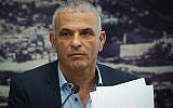 Finance Minister Moshe Kahlon holds a press conference at the Finance Ministry office in Jerusalem, September 23, 2019. (Flash90)