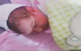 A newborn Lebanese girl named Avivim after an Israeli community targeted by Hezbollah, September 2019. (Screenshot: YouTube)