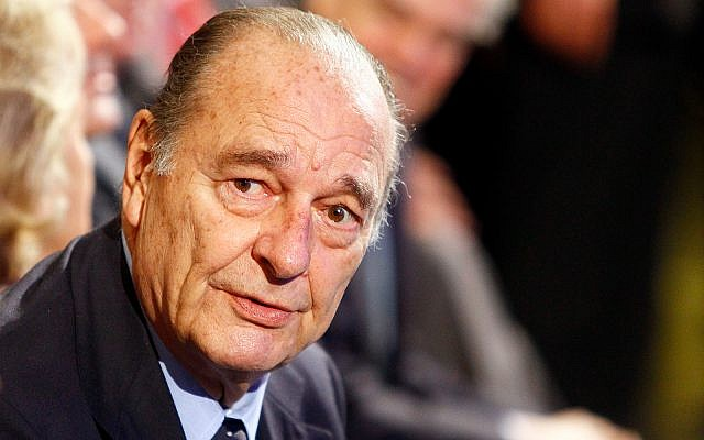 Former French President Jacques Chirac attends a ceremony in Paris, November 24, 2011. (AP Photo/Francois Mori, File)