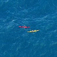 Illustrative: Kayakers in the Mediterranean Sea, July 21, 2010. (Moshe Shai/FLASH90)