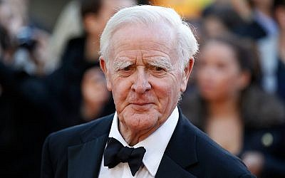 """British author John Le Carre at the UK film premiere of """"Tinker Tailor Soldier Spy,"""" in London, September 13, 2011. (AP Photo/Sang Tan, File)"""