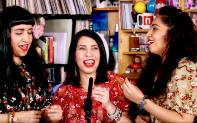 The three sisters of A-WA performed for NPR's Tiny Desk Concert this week (Courtesy A-WA Facebook page)