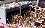 The macabre scene at the Barbie Death Camp at this year's Burning Man. (Courtesy of J. The Jewish News of Northern California via JTA)