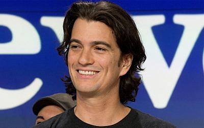Adam Neumann, co-founder and CEO of WeWork, attends the opening bell ceremony at Nasdaq, in New York, January 16, 2018. (AP Photo/Mark Lennihan, File)