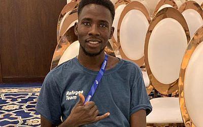 Asylum seeker from Israel Jamal Abdelmaji Eisa Mohammed in Qatar, September 26, 2019. (Courtesy)