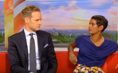 BBC Breakfast anchors Naga Munchetty (R) and Dan Walker (YouTube screenshot)