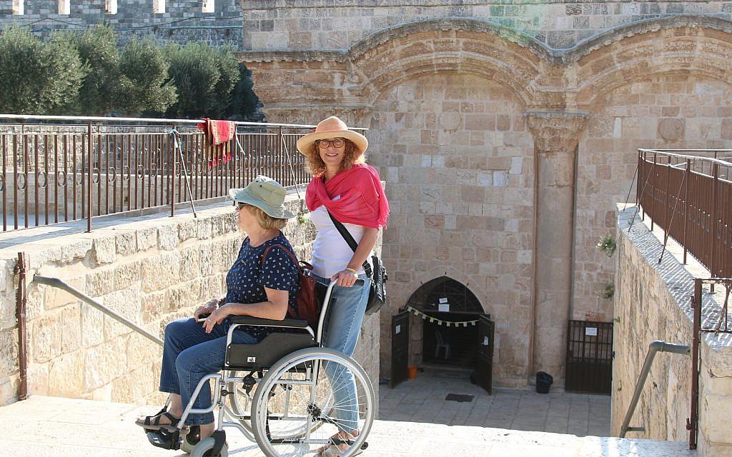 Behind the Golden Gate in Jerusalem's Old City. (Shmuel Bar-Am)