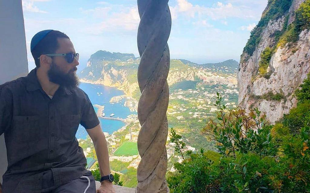 Rabbi Daniel Bortz at the Villa San Michelle on the isle of Capri, Italy. (Courtesy)
