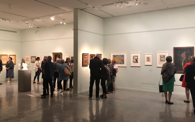 Some 100 artworks from the Gurlitt collection make up the exhibit 'Fateful Choices: Art from the Gurlitt Trove' at the Israel Museum, which opened on September 23, 2019 (Courtesy Jessica Steinberg)