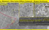 Satellite image showing the construction of a new Iranian military base in Iraq's Albukamal Al-Qaim region, near the Syrian border (ImageSat International via Fox News)