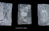 Some of the studied tin ingots from the sea off the coast of Israel (approx. 1300-1200 BCE). (Credit: Ehud Galili)
