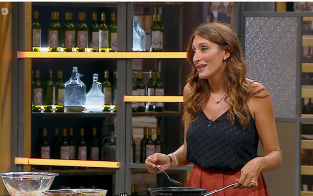 Vanessa Abittan during her first appearance on 'Master Chef' (Channel 12 screenshot)
