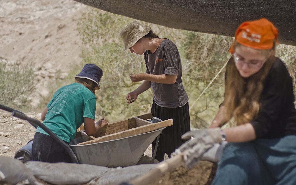 Thousands of youth participated in the excavation in Ramat Beit Shemesh over the past three years. (Asaf Peretz, Israel Antiquities Authority)